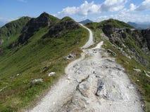 Le Stubnerkogel dans mauvais Gastein Almorama, Salzbourg, Autriche Images libres de droits