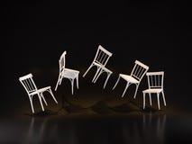 Le studio de flottement de chaise/3D rendent l'image Image stock