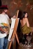 Le studio de l'artiste image libre de droits