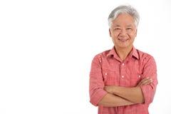 Le studio a tiré de l'homme aîné chinois Photo libre de droits