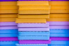 Le stuoie multicolori di puzzle di EVA Foam hanno impilato immagini stock