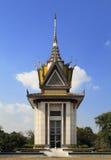 Le stupa commémoratif des zones de massacre de Choeung Ek, Cambodge Images stock
