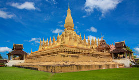 Le Stupa d'or ou grand, Pha qui Luang. Images libres de droits