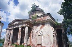 Le style architectural de l'église orthodoxe dans la région de Tver Image libre de droits