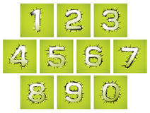 Le style de conception de numérotation de la perforation et de la larme Images stock