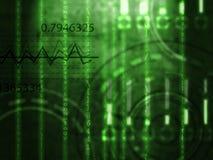 Le style de Matrix numérote le fond illustration stock