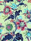 Le style de vintage de la tapisserie fleurit le fond de modèle de tissu Images stock