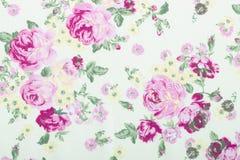 Le style de vintage de la tapisserie fleurit le fond de modèle de tissu Photo libre de droits
