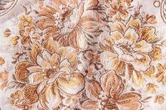 Le style de vintage de la tapisserie fleurit le modèle de tissu Image libre de droits