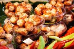 Le style thaïlandais a grillé la saucisse, appellent également Photographie stock libre de droits