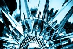 Le stylisé de la roue chromeplated Image libre de droits