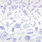 Le stylo bleu peint à la main est un thème d'affaires de croquis Patt de Beshevsny Photos libres de droits
