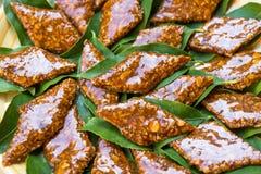 Le Su Gatou, dessert sarde Images libres de droits