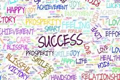 Le succès, illustrations de mot positif d'émotion opacifient Effet, croquis, créatif et abstrait illustration libre de droits