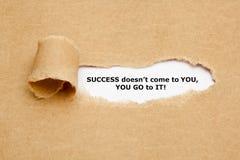 Le succès ne vient pas qu'à vous U disparaissent Image libre de droits