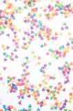 Le sucre arrosent des coeurs de points, décoration pour le gâteau et boulangerie, comme fond Images libres de droits