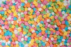 Le sucre arrosent les points, la décoration pour le gâteau et la boulangerie Photos stock