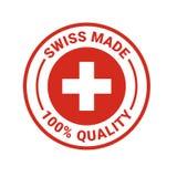 Le Suisse a fait l'icône de joint de vecteur de qualité de 100 pour cent Illustration Libre de Droits