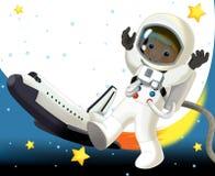 Le sujet d'étrangers - UFO - étoile - jardin d'enfants - menu - écran - l'espace pour l'humeur heureuse et drôle des textes - - il Image stock