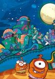 Le sujet d'étrangers - UFO Illustration Libre de Droits