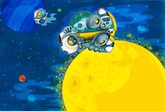 Le sujet d'étrangers - UFO - starships illustration stock