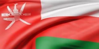 Le Sultanat d'Oman le drapeau illustration stock