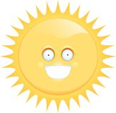 le sun Arkivfoton