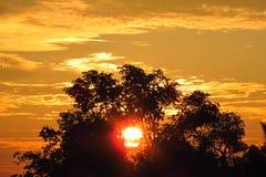 Le Sun caché Image libre de droits