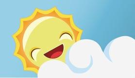 le sun för lycklig illustration Royaltyfria Foton