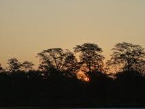 Le Sun faisant une pointe images stock