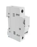 Le support de fusible électrique a fermé la position d'isolement sur le backgro blanc Photographie stock libre de droits