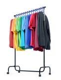Le support mobile avec la couleur vêtx sur le fond blanc Le fichier contient un chemin à l'isolement Photo stock