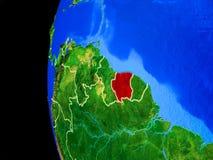 Le Surinam de l'espace illustration stock