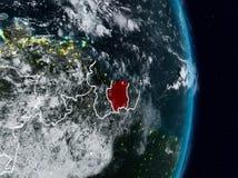 Le Surinam de l'espace la nuit illustration libre de droits