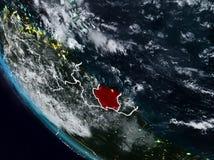 Le Surinam la nuit de l'espace illustration stock