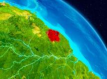 Le Surinam sur terre illustration libre de droits