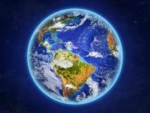 Le Surinam sur terre de l'espace illustration libre de droits