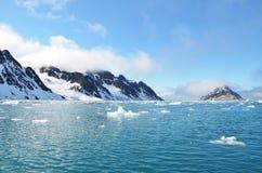 Le Svalbard du nord Images libres de droits