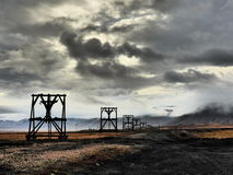 Le Svalbard nella caduta Fotografia Stock