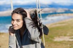 le swing för flicka Royaltyfri Bild