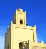 le symbo l d'histoire dans la religion de minaret du Maroc Afrique et Image stock