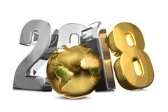 2018 le symbole argenté d'or 3d rendent Éléments de ce furn d'image Images libres de droits