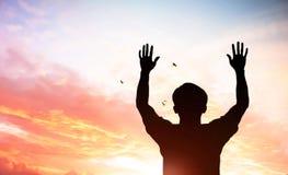 Le symbole croisé du rachat, Vendredi Saint, salut images stock