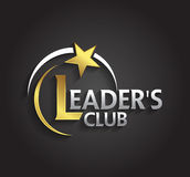 Le symbole d'argent et d'or de graphique de vecteur pour des chefs de société avec l'étoile forment Photos stock