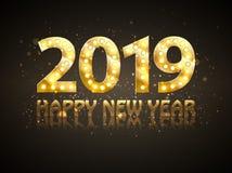 Le symbole de compte de la nouvelle année 2018 avec des projecteurs illustration libre de droits