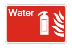 le symbole de sécurité incendie de l'eau de symbole se connectent le fond blanc, illustration de vecteur illustration libre de droits