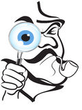 Le symbole de Sherlock Holmes Photos stock