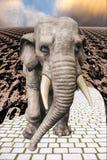 Le symbole du dieu indien Ganesha - un éléphant illustration libre de droits