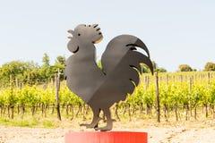 Le symbole du vin de Classico de chianti le long d'une route image libre de droits