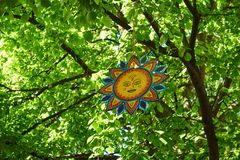 Le symbole païen du soleil photo stock